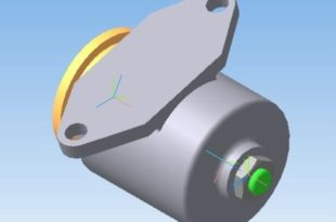 Амортизатор пружинный 3Д модель