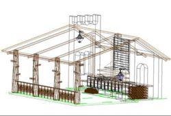 Архитектурный проект беседки 3д