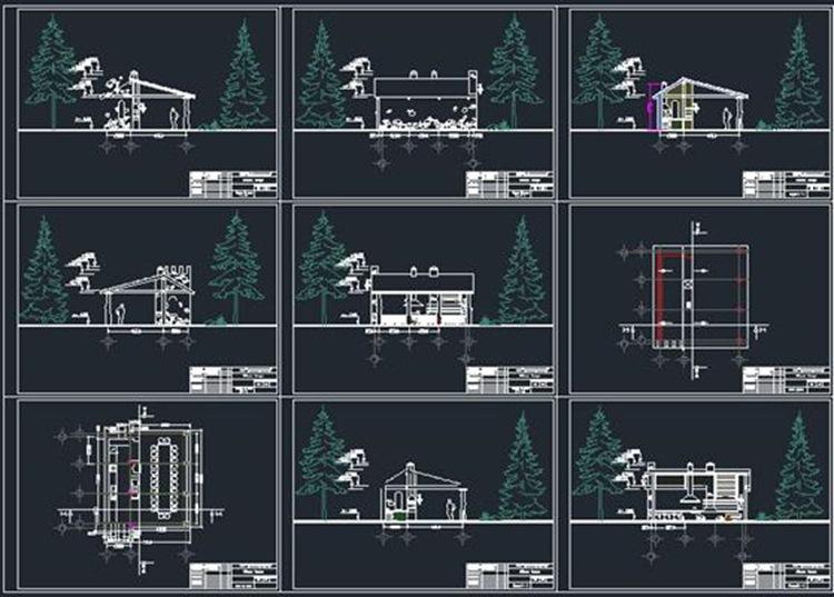 Архитектурный проект беседки чертеж