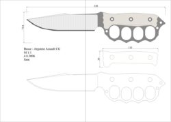 чертеж ножа busse argonne assault Model