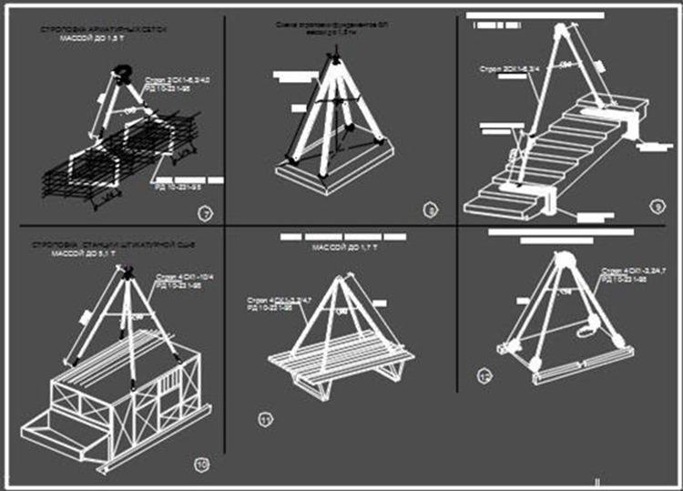 Cхемы строповок, складирования - для ППРк