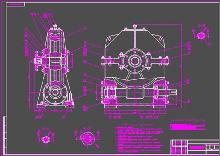 Червячный редуктор (сборочный чертеж) + деталировка