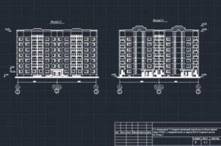 Дом 2-х секционный 7-этажный панельный жилой cерия П46М