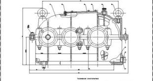 Двухступенчатый цилиндрический редуктор