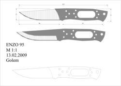 чертеж ножа enzo 95 Model