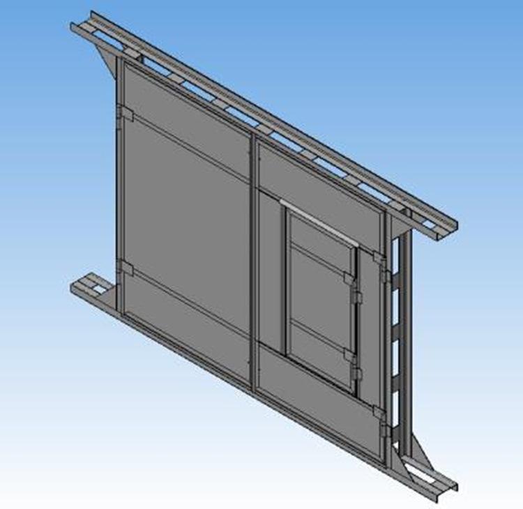 Гаражные ворота (3000x2500) 3д модель