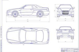 Гибридный автомобиль на базе Nissan Skyline