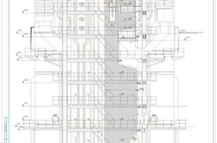 Котел БКЗ-420-140 поперечный и продольный разрезы (2)
