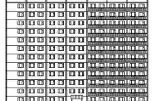Многоэтажный жилой домМногоэтажный жилой дом (план этажей + фасады)