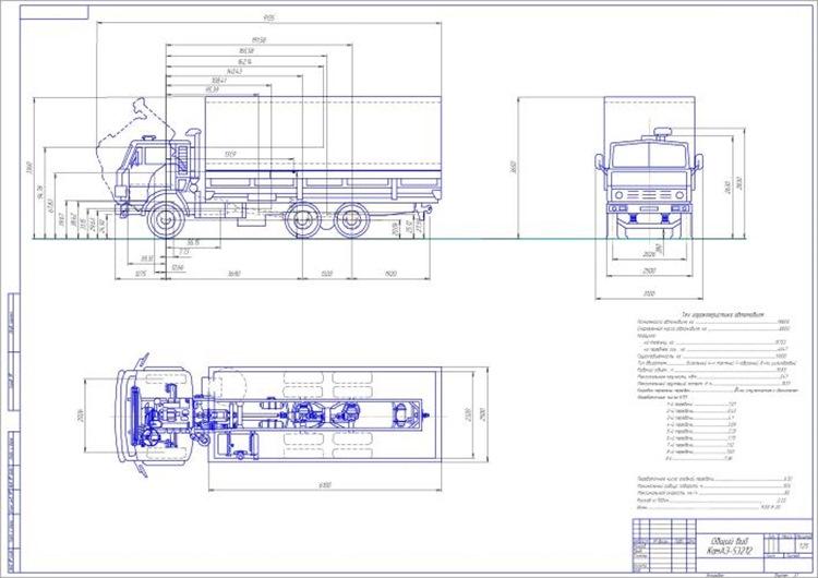 Общий вид КамАЗ-53212