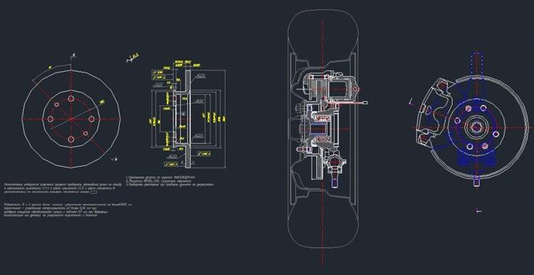 Передний тормоз со ступицей в сборе ЗАЗ-2108