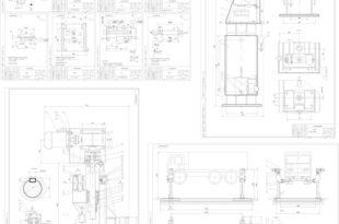 Подъемник для автомобилей + х2 Стойка (Сборочный чертеж) + Деталировка