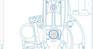 Поперечний розріз двигуна внутрышнього згорання