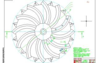 Ротор измельчителя + Деталировка