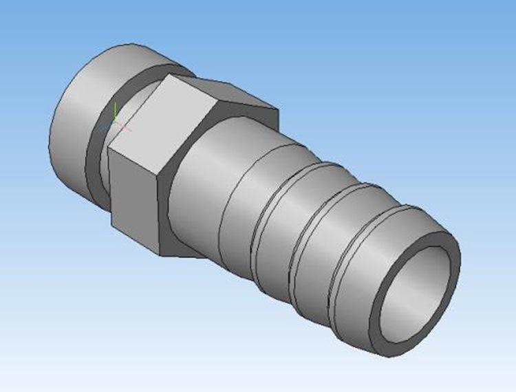 Штуцер охлаждения циркуляционного насоса 3д модель