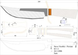 чертеж ножа steve voorhis persian Model