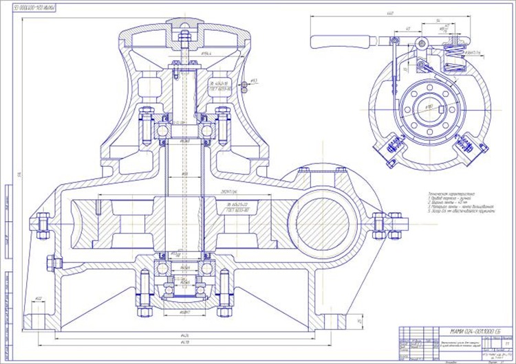 Вертикальный шпиль для погрузки в кузов автомобиля тяжелых грузов Вид сбоку