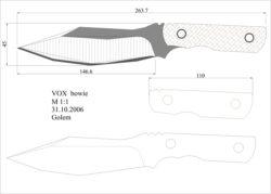 чертеж ножа vox bowie Model