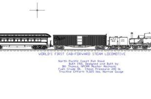 Worlds First Cab-Forward steam locomoyive