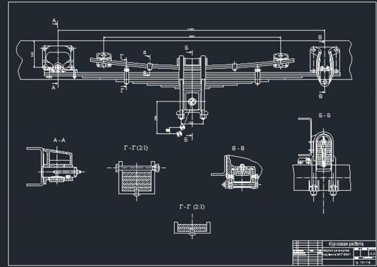 Задняя рессорная подвеска ЗИЛ-5301