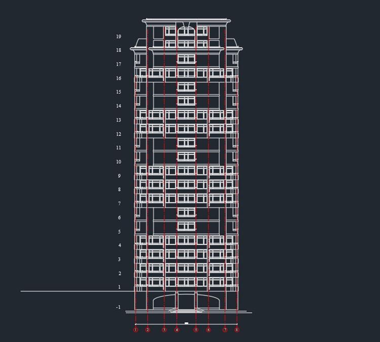Жилой дом - башня (20 этажей)