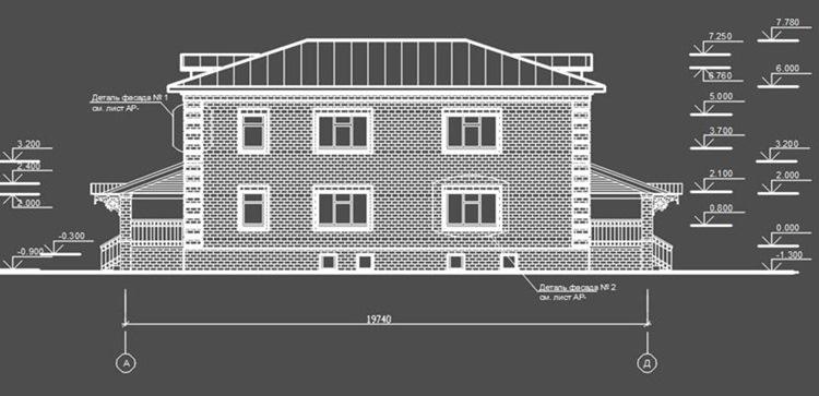 Жилой малоэтажный дом