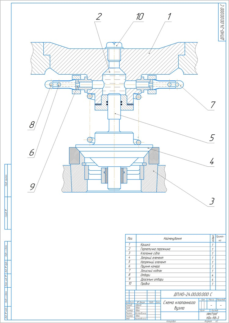 500052_Схема клапанного вузла