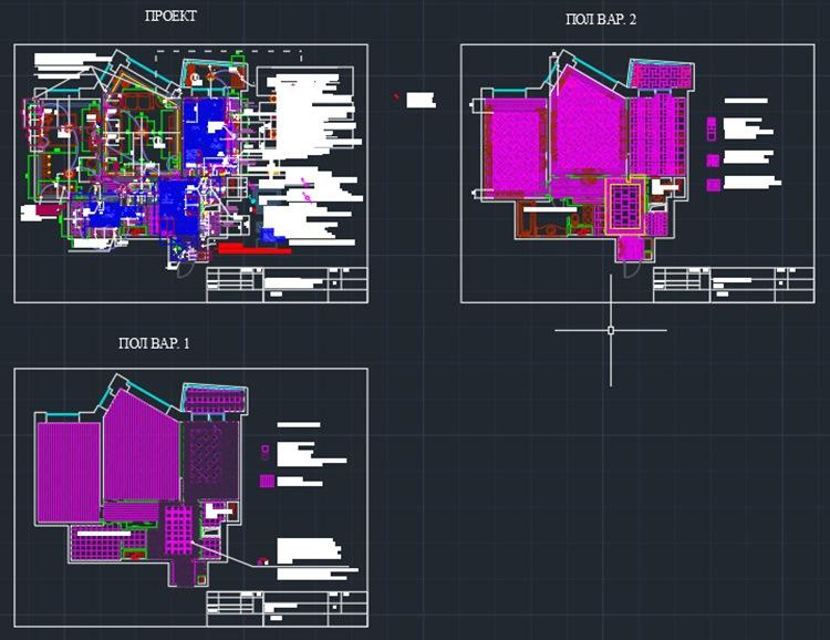 Чертежи проекта дизайна квартиры