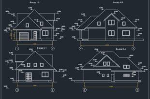 Эскизный проект - 2х этажный частный дом на 1 семью