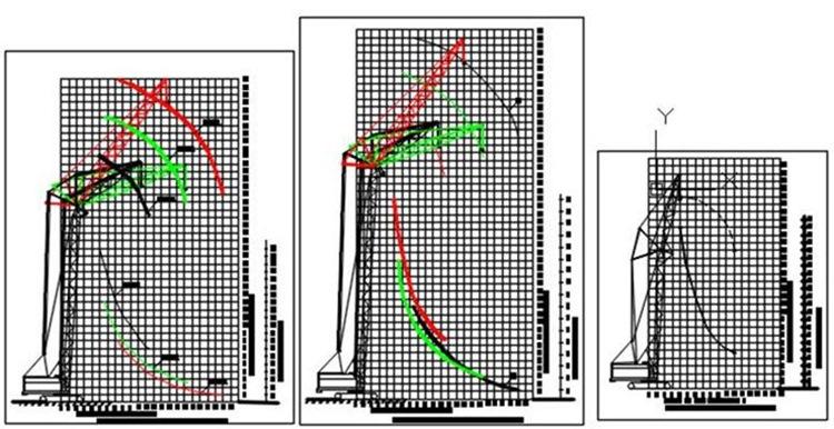 Графики грузоподъемности кранов МКГ25 БР МКГС100 СКГ631 схемы кранов(для ППР)