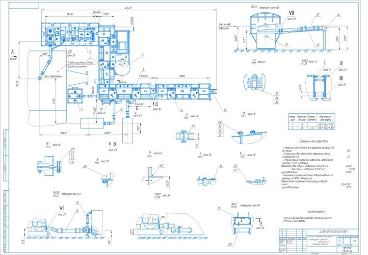 Комплекс обладнання циркуляційної системи бурової установки Уралмаш 4Э-76 Складальне кресленя
