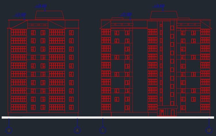 Многоэтажный дом (жилой )