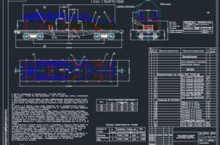 Схема размещения и крепления автомобильных прицепов на 4-осной платформк модели 13-401