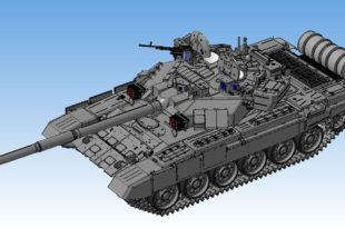 КОМПАС 3D Масштабная модель танка Т-90 скачать бесплатно